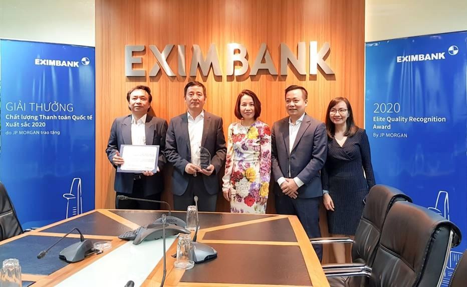 jp morgan chase bank trao giai thuong thanh toan quoc te xuat sac cho eximbank