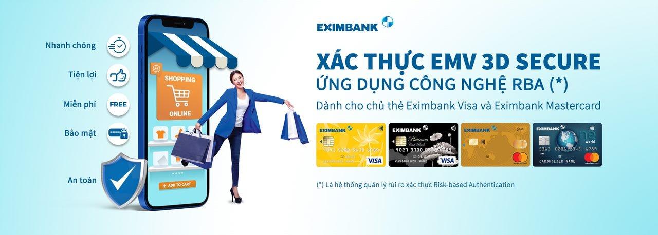 eximbank trien khai he thong xac thuc bao mat giao dich truc tuyen moi nhat