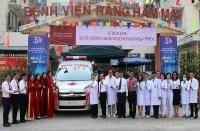 Agribank Chi nhánh Sài Gòn tài trợ xe cứu thương cho Bệnh viện Răng Hàm Mặt