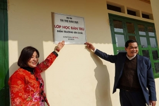 Central Retail Việt Nam xây dựng 2 phòng học cho học sinh nghèo vùng cao Lào Cai