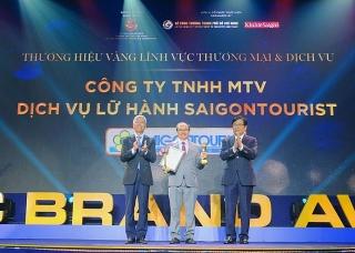 Saigontourist nhận giải thưởng Thương hiệu Vàng TP. Hồ Chí Minh