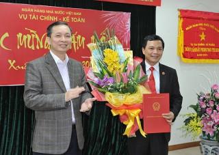 Ông Lê Quang Huy được bổ nhiệm giữ chức Phó Vụ trưởng Vụ Tài chính - Kế toán (NHNN)