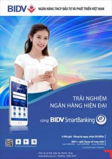 Cùng BIDV Smart Banking trải nghiệm dịch vụ ngân hàng hiện đại