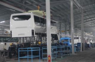 Sản xuất trở lại bình thường tại Thaco Bus