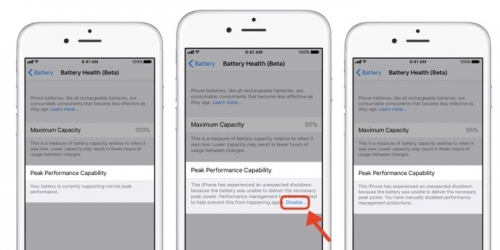 Đã có thể tắt tính năng làm chậm iPhone trên iOS beta mới