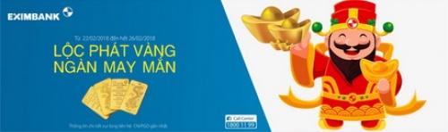 Eximbank dành nhiều ưu đãi cho khách hàng nhân dịp vía Thần tài