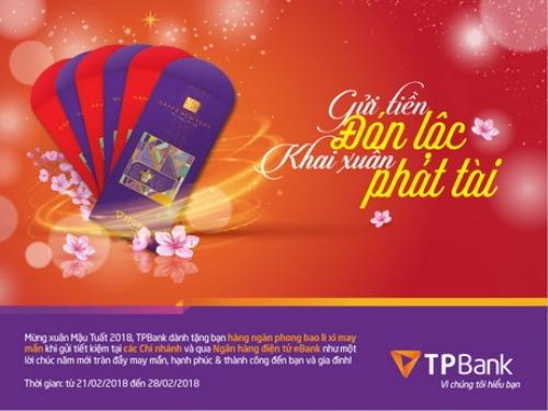 Gửi tiền đón lộc, khai xuân phát tài tại TPBank
