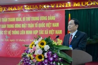 Chủ tịch Ủy ban Trung ương MTTQ Việt Nam làm việc với Liên minh HTX