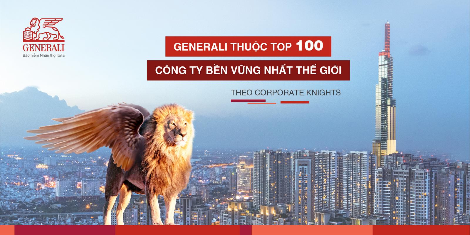 generali thuoc top 100 cong ty ben vung nhat the gioi