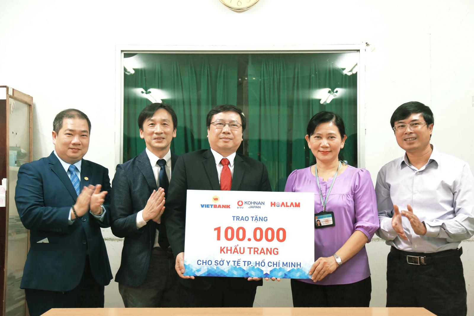 100.000 khẩu trang tài trợ cho Sở Y tế TP. Hồ Chí Minh