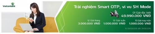 """""""Trải nghiệm Smart OTP - Vi vu SH Mode"""" cùng Vietcombank"""