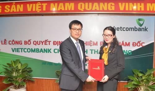Vietcombank bổ nhiệm Phó giám đốc chi nhánh Thành Công