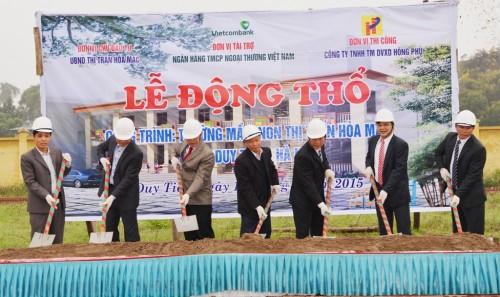 Vietcombank tài trợ 2,5 tỷ đồng xây dựng trường mầm non