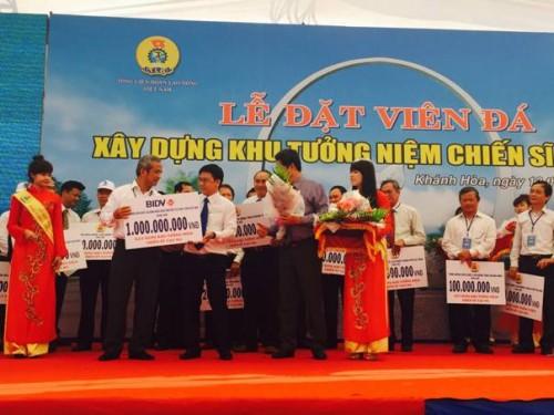 BIDV ủng hộ xây dựng đài tưởng niệm liệt sỹ trên đảo Gạc Ma