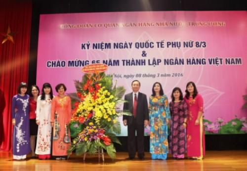 Công đoàn Cơ quan NHNN Trung ương: Kỷ niệm ngày Quốc tế phụ nữ