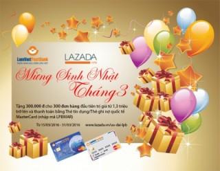 Nhập mã LPBMAR để được giảm 300 nghìn đồng tại lazada.vn