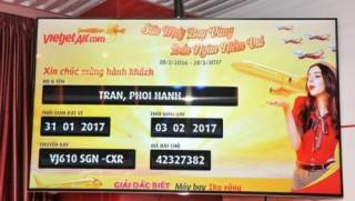 Hành khách Vietjet trúng máy bay 1 kg vàng
