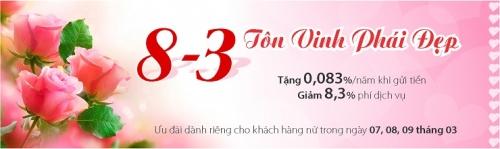 Nhiều ưu đãi cho khách hàng nữ tại Eximbank dịp 8/3