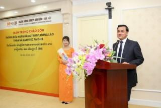 Thống đốc Ngân hàng Trung ương Lào thăm và làm việc tại SHB