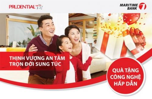 Cơ hội trúng Macbook Retina khi mua bảo hiểm Prudential tại Maritime Bank