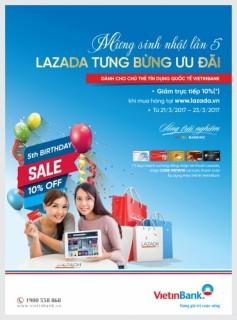 Ưu đãi đặc biệt cho chủ thẻ VietinBank mua sắm tại Lazada