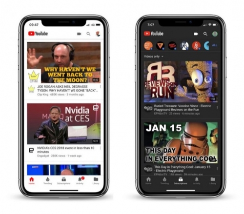 YouTube trên iOS và Android đã hỗ trợ giao diện tối (Dark Mode)