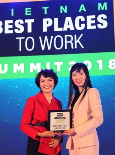 MB nằm trong Top 3 ngân hàng Việt Nam có môi trường làm việc tốt nhất