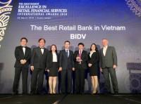 BIDV tiếp tục đượcvinh danh là Ngân hàng bán lẻ tốt nhất Việt Nam