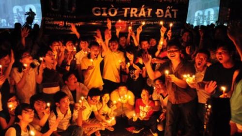 Tắt đèn hưởng ứng Giờ trái đất năm 2018 tại Việt Nam