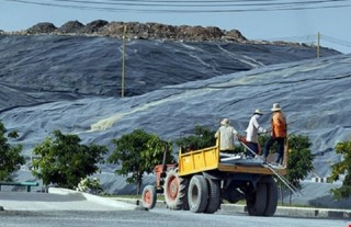 Khẩn trương làm vành đai cây xanh 40 ha giảm mùi hôi bãi rác