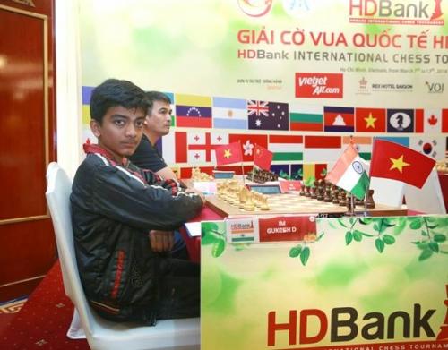 Giải Cờ vua Quốc tế HDBank – Ván 3: Kỳ thủ 13 tuổi dẫn đầu Giải