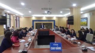 Phó Thống đốc Đào Minh Tú làm việc với các ngân hàng trên địa bàn tỉnh Cao Bằng