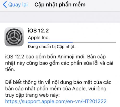 Apple tung bản cập nhật iOS 12.2 bổ sung thêm 40 tính năng mới cho iPhone, iPad