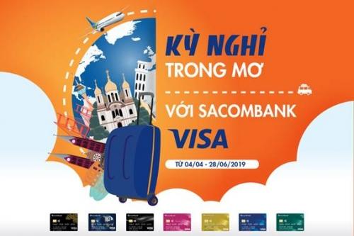 Sacombank ưu đãi du lịch hè cho chủ thẻ