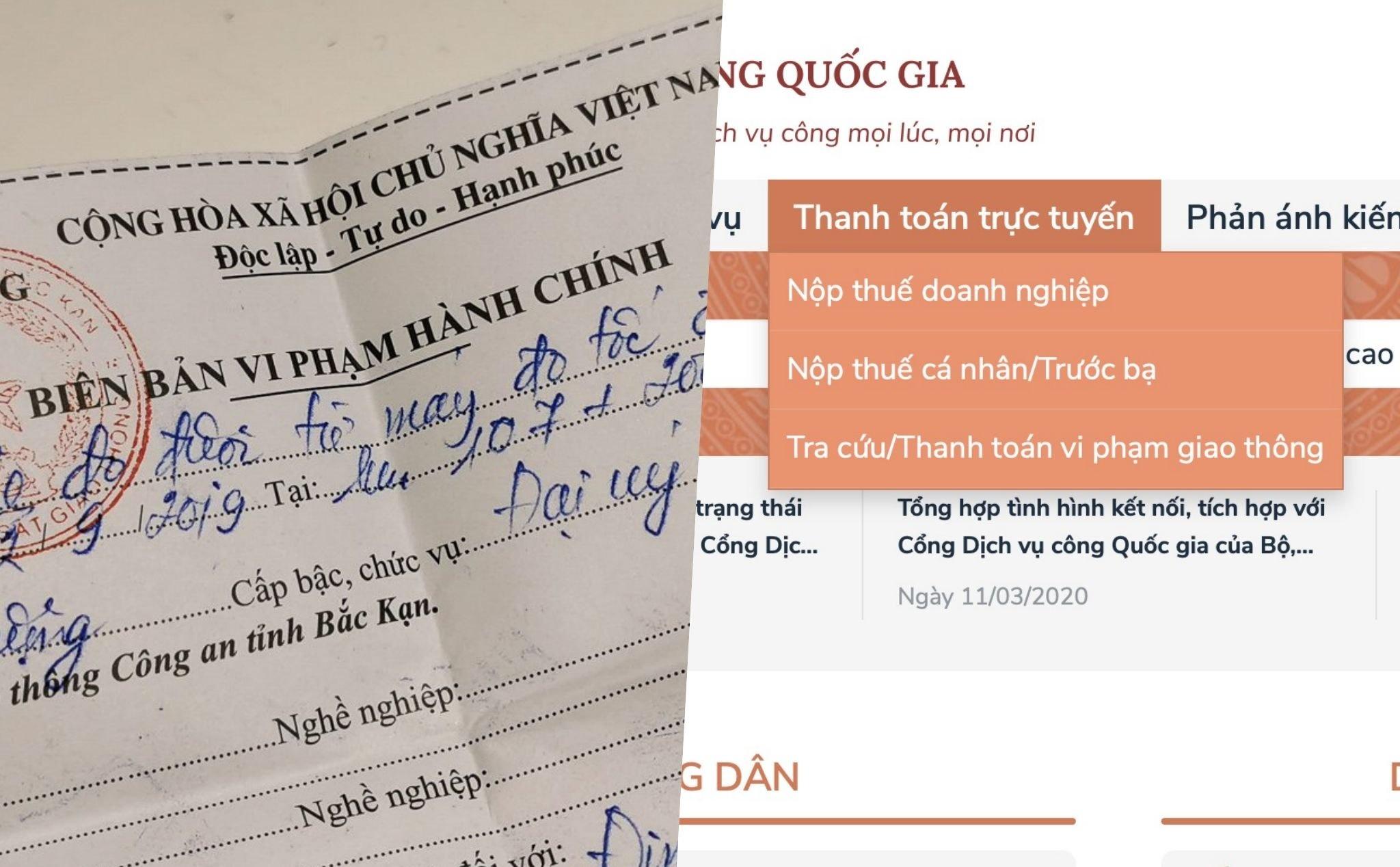 huong dan dong phat online nhan giay tai nha khi vi pham giao thong