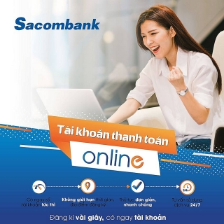 Tìm hiểu về mở thẻ online tại Sacombank