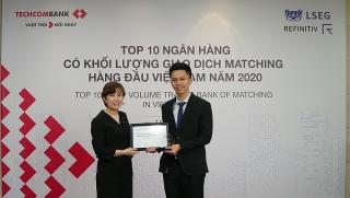 Techcombank có giao dịch Matching lớn nhất thị trường