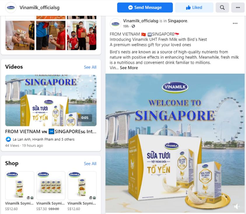 vinamilk xuat khau sua tuoi cao cap chua to yen dau tien di singapore