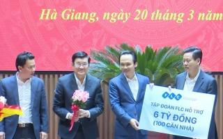 FLC trao 6 tỷ tiền mặt xây 100 căn nhà cho người nghèo Hà Giang