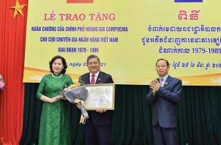 Cán bộ Ban K được nhận Huân chương, Bằng khen của Hoàng gia Campuchia