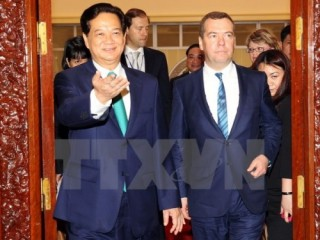 Thủ tướng Nga Medvedev kết thúc tốt đẹp chuyến thăm Việt Nam