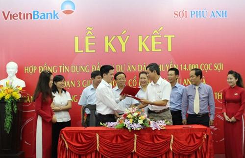 VietinBank tài trợ 140 tỷ cho dự án đầu tư dây chuyền 14.000 cọc sợi