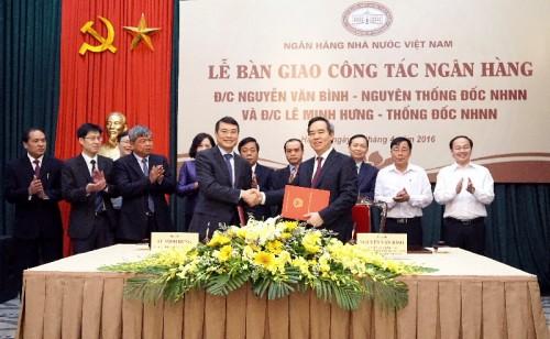 Thống đốc NHNN Lê Minh Hưng nhận bàn giao công tác