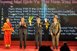 """SeABank lần thứ 6 nhận giải """"Thương hiệu dịch vụ Việt Nam"""""""
