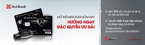 SeABank ưu đãi cho khách mở thẻ Mercedes Platinum