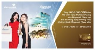 Ưu đãi cho chủ thẻ đồng thương hiệu Vietcombank Diamond Plaza Visa