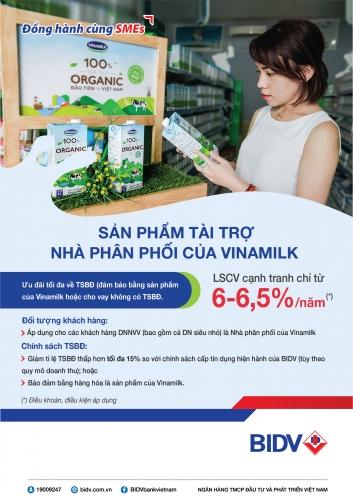 BIDV ra mắt sản phẩm dành riêng cho nhà phân phối Vinamilk