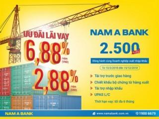 Nam A Bank dành 2.500 tỷ đồng vốn ưu đãi cho doanh nghiệp xuất khẩu