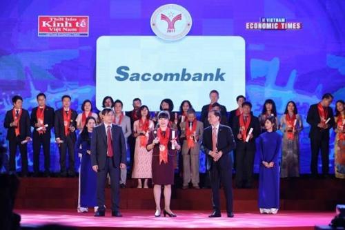 Sacombank đạt danh hiệu thương hiệu mạnh Việt Nam