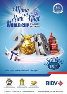 Cơ hội tới Nga xem chung kết World Cup 2018 khi gửi tiền tại BIDV